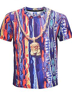 billige Herre Mode Beklædning-Herre - Farveblok overdrevet Gade T-shirt