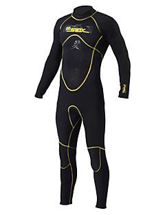 levne Neopreny různé typy-SLINX Pánské Dlouhý neopren 5mm neoprén Potápěčské obleky Dlouhý rukáv Zip vzadu - Potápění / Surfing / Šnorchlování Jednobarevné