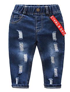 billige Jeans til drenge-Børn / Baby Drenge Ensfarvet Jeans