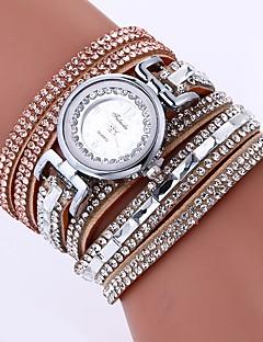 billige Armbåndsure-Dame Armbåndsur Kinesisk Imiteret Diamant / Afslappet Ur PU Bånd Bohemisk / Mode Sort / Hvid / Blåt