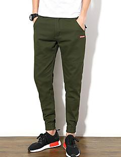 billige Herre Mode Beklædning-Herre Simple Chinos Bukser Ensfarvet