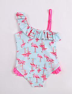 billige Badetøj til piger-Børn Pige Kran Houndstooth mønster Uden ærmer Badetøj