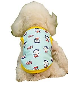 billiga Hundkläder-Hund / Katt / Husdjur Väst Hundkläder Landsflagga / Figur / Brittisk Gul / Blå Bomull / Polyester Kostym För husdjur Herr Stilig / Ljuv