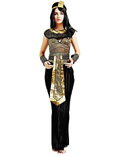 billige Voksenkostymer-Egyptiske Kostymer Kostume Dame Halloween Halloween Karneval Nytt År Festival / høytid Halloween-kostymer Drakter Svart Ensfarget Halloween