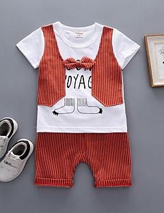 billige Tøjsæt til piger-Baby Unisex Ensfarvet / Stribet / Trykt mønster Kortærmet Tøjsæt