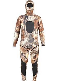 Χαμηλού Κόστους Σέρφινγκ, καταδύσεις και ψαροντούφεκο-YON SUB Ανδρικά Πλήρης στολή κατάδυσης 7mm SCR Νεοπρένιο Στολές κατάδυσης Ελαστικό Μακρυμάνικο Πίσω φερμουάρ, 2 τεμάχια καμουφλάζ Φθινόπωρο / Άνοιξη / Καλοκαίρι