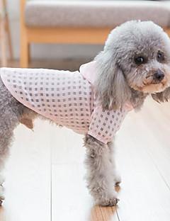 billiga Hundkläder-Hund / Katt Kappor / Huvtröjor Hundkläder Pläd / Rutig Grön / Rosa Terylen Kostym För husdjur Dam Vanlig / Fritid