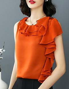 billige Dametopper-T-skjorte Dame - Ensfarget Grunnleggende / Gatemote