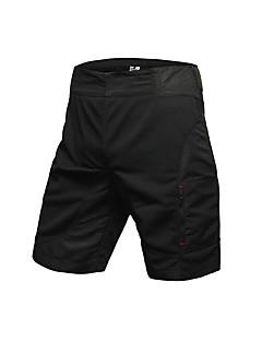 billige Sykkelbukser,Shorts,Strømpebukser, Tights-Jaggad Herre Fôrede sykkelshorts Sykkel Shorts / Hengende Shorts / MTB-shorts 3D Pute, Pustende Ensfarget, Rutet Polyester Svart Sykkelklær