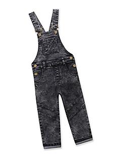 billige Bukser og leggings til piger-Baby Unisex Ensfarvet Uden ærmer Overall og jumpsuit