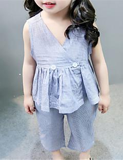 billige Tøjsæt til piger-Børn Pige Ensfarvet Uden ærmer Tøjsæt