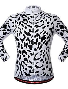 billige Sykkelklær-WOSAWE Langermet Sykkeljersey - Svart / Hvit Dyr Sykkel Jersey, Refleksbånd