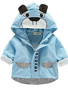 billige Overtøj til babyer-Baby Pige Ensfarvet Stribet Trykt mønster Langærmet Jakkesæt og blazer