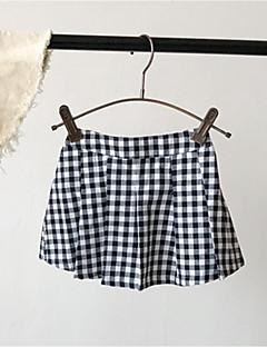 billige Bukser og leggings til piger-Børn Pige Ruder Shorts