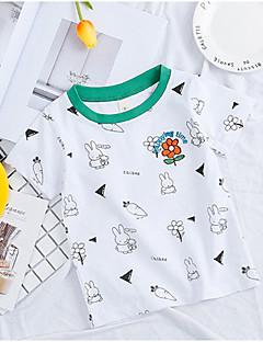 billige Overdele til drenge-Børn Drenge Trykt mønster Kortærmet T-shirt