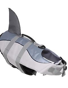 billiga Hundkläder-Hund Livväst Hundkläder Enfärgad Djur Grå Vattentätt Material Terylen Kostym För husdjur Djurmönstrad Minimalistisk Stil