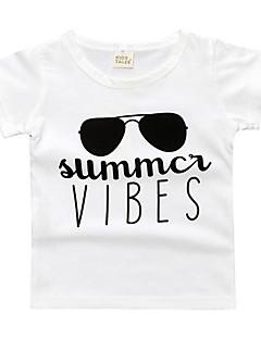 billige Overdele til drenge-Børn Drenge Geometrisk Kortærmet T-shirt