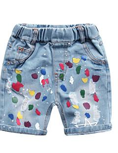 billige Jeans til piger-Baby Unisex Geometrisk / Farveblok Jeans