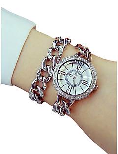 billige Armbåndsure-Dame Quartz Armbåndsur Japansk Kronograf / Imiteret Diamant / Selvlysende Legering Bånd Luksus / Elegant Sølv / Guld / Rose Guld