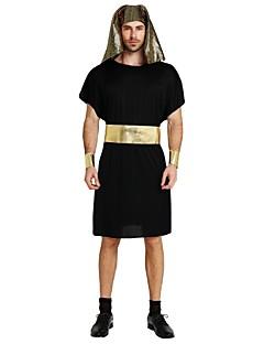 billige Halloweenkostymer-Egyptiske Kostymer Drakter Unisex Halloween / Karneval / De dødes dag Festival / høytid Halloween-kostymer Svart Ensfarget / Halloween