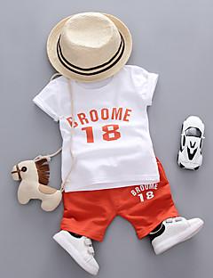 billige Tøjsæt til piger-Baby Unisex Ensfarvet / Trykt mønster Kortærmet Tøjsæt