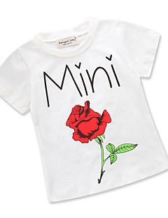 billige Pigetoppe-Baby Pige Blomstret / Trykt mønster Kortærmet T-shirt