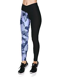 billiga Träning-, jogging- och yogakläder-Dam Yoga byxor - Kamoflage sporter Cykling Tights / Leggings Sportkläder Mateial som andas Hög Elasisitet