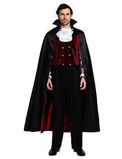 billige Voksenkostymer-Engel & Demon Vampyrer Kostume Unisex Halloween Jul Halloween Karneval Festival / høytid Polyester Drakter Svart Ensfarget Halloween