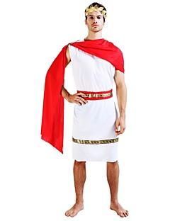 billige Halloweenkostymer-Egyptiske Kostymer Drakter Herre Halloween / Karneval / De dødes dag Festival / høytid Halloween-kostymer Hvit Ensfarget / Halloween