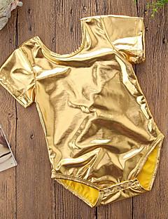billige Babytøj-Baby Pige Ensfarvet / Patchwork Kort Ærme Bodysuit