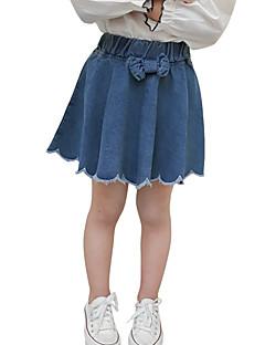 billige Pigenederdele-Børn Pige Ensfarvet Nederdel