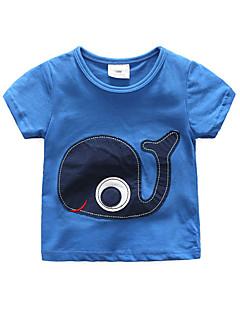 billige Overdele til drenge-Børn / Baby Drenge Patchwork Kortærmet T-shirt