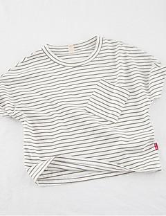 billige Babyoverdele-Baby Unisex Stribet Kortærmet Bluse