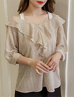 billige Bluse-kvinders bluse - stribet bådhals