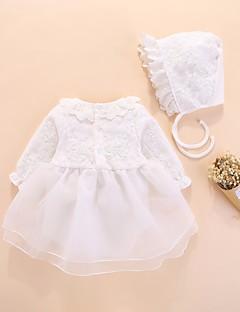 levne With Lovely Romper-Dítě Dívčí Aktivní / Základní Denní Jednobarevné Síťka / Základní Poloviční rukáv Bavlna / Polyester Jeden kus Bílá