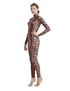 billige Zentai-mønstret Zentai Drakter Cosplay Kostumer Zentai Cosplay-kostymer Brun / Mørkebrun Leopard Dyremønster Spandex Lykra Elastisk Unisex Halloween Karneval Maskerade / Høy Elastisitet