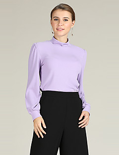 baratos Suéteres de Mulher-Mulheres Activo / Básico Luva Lantern Pulôver - Sólido