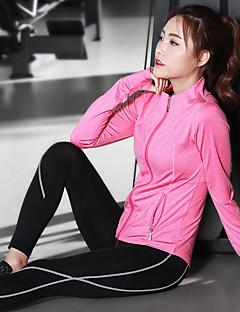 billiga Träning-, jogging- och yogakläder-Dam Yogakläder - Rosa, Grå, Mörkgrå sporter Klädesset Motion & Fitness, Löpning, Gym Sportkläder Mateial som andas Elastisk