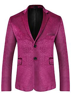 billige Herremote og klær-Blazer-Ensfarget Grunnleggende Herre / Langermet