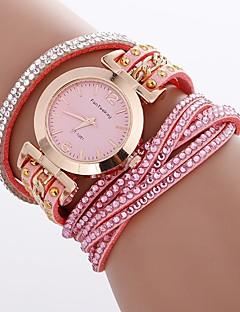 billige Armbåndsure-Xu™ Dame Armbåndsur Kinesisk Kreativ / Afslappet Ur / Imiteret Diamant PU Bånd Bohemisk / Mode Sort / Hvid / Blåt / Stor urskive / Et år