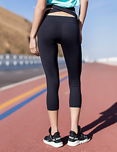 billiga Träning-, jogging- och yogakläder-Dam Korsvis Yoga byxor - Purpur, Blå, Grå sporter Elastan 3/4 Strumpbyxor Sportkläder Fuktabsorberande, Mjukhet Elastisk