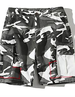お買い得  ショーツ-男性用 ベーシック ショーツ パンツ カモフラージュ