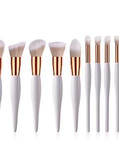 billiga Sminkborstar-10-Pack Makeupborstar Professionell Borstsatser / Rougeborste / Ögonskuggsborste Nylon fiber Mjuk / Fullständig Täckning Trä / Bambu