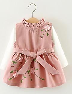 זול שמלות תחרה לבנות-בנות פעיל כותנה מכנסיים - גיאומטרי חום / פעוטות