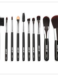 billiga Sminkborstar-10-Pack Makeupborstar Professionell Borstsatser / Ögonskuggsborste / Eyelinerborste Nylon fiber Mjuk / Fullständig Täckning Trä / Bambu