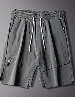 billige Herrebukser og -shorts-Herre Grunnleggende Joggebukser / Shorts Bukser - Ensfarget / Geometrisk Svart