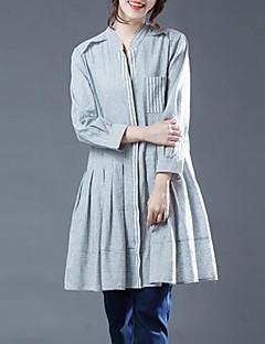 billige Skjorte-V-hals Dame - Stribet Skjorte