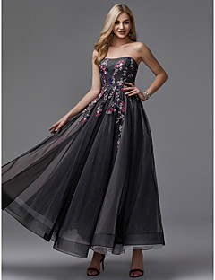cheap Prom Dresses-Princess Strapless Ankle Length Tulle Prom / Formal Evening Dress with Appliques by TS Couture®