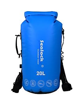 お買い得  防水バッグ & 防水ケース-Sealock 20 L 防水ドライバッグ 防水ファスナー, 耐久性 のために ヨガ / 水泳 / サーフィン