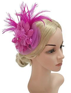 billige Hårpynt til damer-Dame Vintage / Elegant Hårbånd / Hårklemme / fascinator - Blomst, Ensfarget